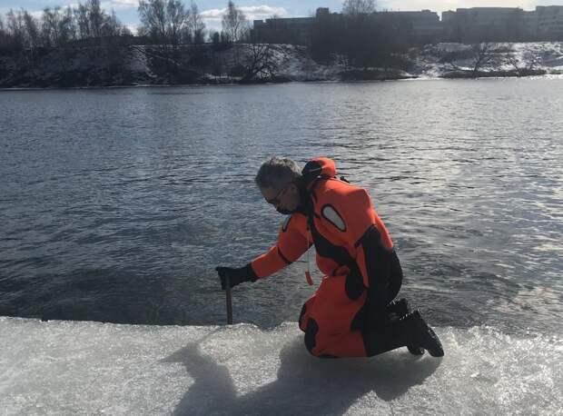 Водные спасатели СЗАО будут использовать в работе ледомер