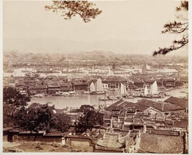 Остров и гавань, Фучжоу, 1870-е годы