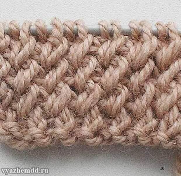 2 интересных узора для шапок и шарфов