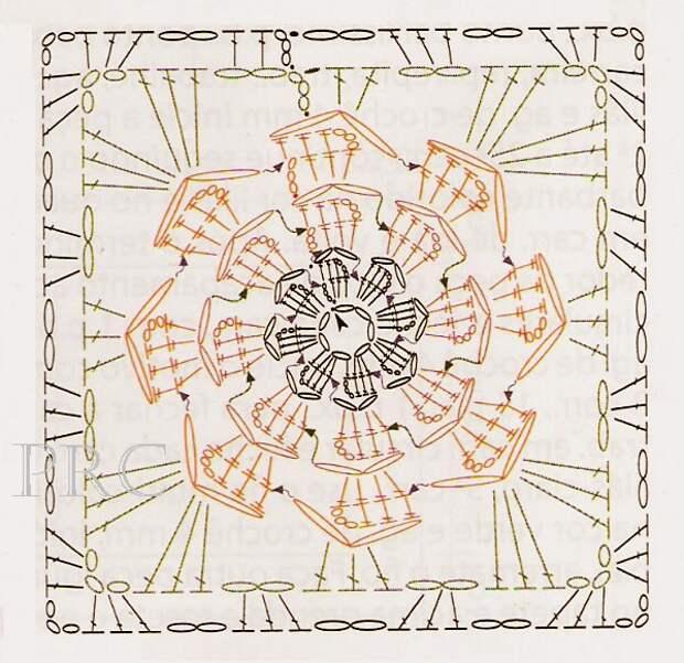 Pega Panelas Croche Flor Rosa em Square Gráfico (599x581, 592Kb)