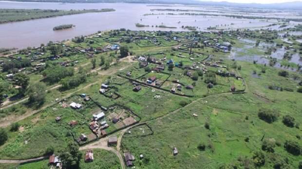 Амур вышел из берегов в Хабаровском крае