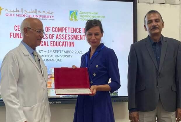 Заместитель главного врача больницы Вересаева прошла стажировку в Эмиратах