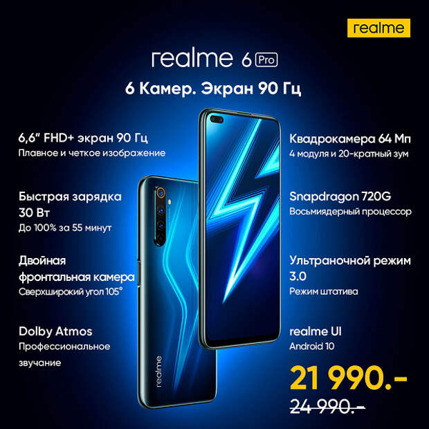 Главный конкурент Redmi Note 8 Pro прибыл в Россию. Начались продажи серии Realme 6 со скидкой для первых покупателей