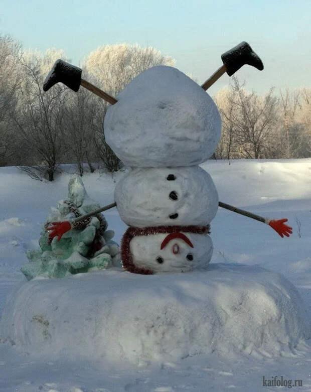Если снеговики, то такие Снеговик, Картинки, Длиннопост