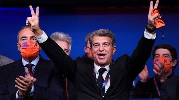 «Мы заслуживали пройти дальше». Лапорта обратился к болельщикам «Барселоны» после вылета из ЛЧ