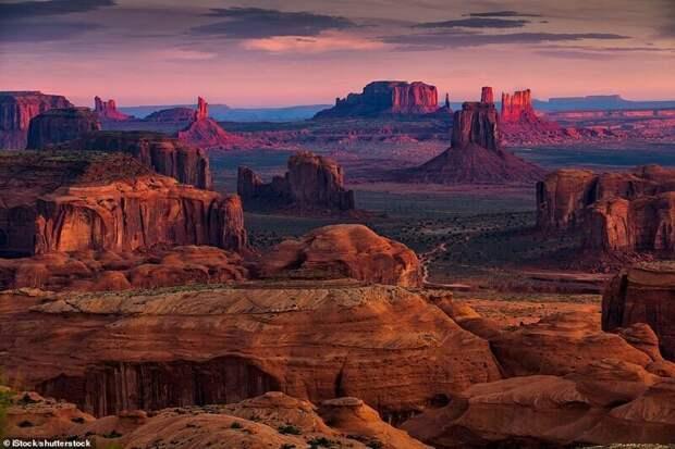 14. Долина монументов, США красивые места, места, мир, путешествия, рейтинг, страны, туризм, фото