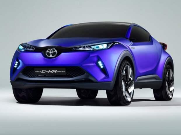 Компактный кроссовер Toyota C-HR показал «личико»