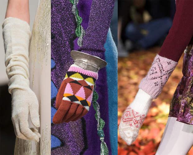 Вязаные перчатки и варежки