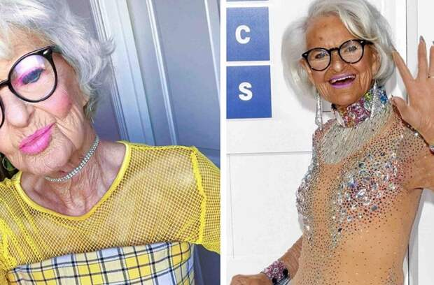Пикантными снимками очаровала сеть 92-летняя блогерша