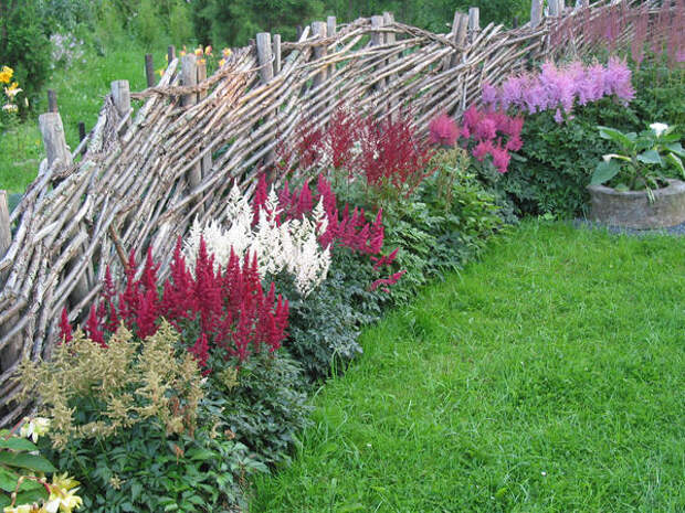 В таком саду может сочетаться несочетаемое, это всегда плод импровизации
