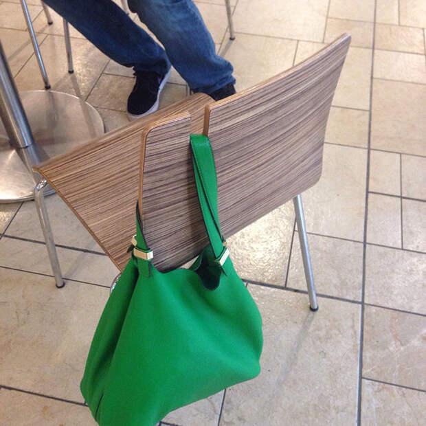 This Chair Has A Purse/Bag Holder