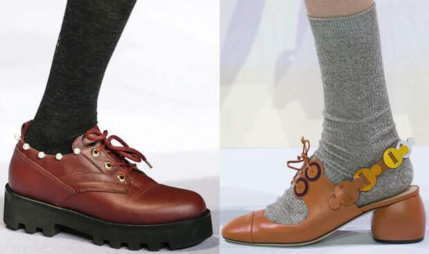 Модная женская обувь на шнурках