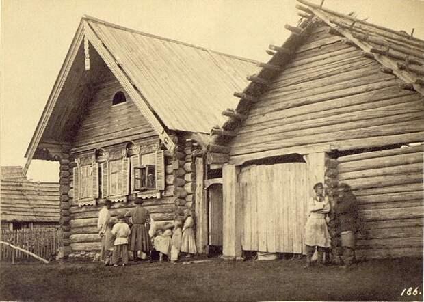 Крестьянская изба в Колпине. Неизвестный автор, 1860-е, Санкт-Петербургская губ., слобода Колпино, Кунсткамера.