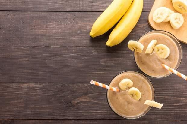 банановый смузи с геркулесом