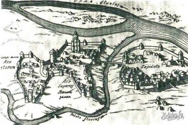 Полоцк. Рисунок XVI века - «Взятье полоцкое литовские земли…»: силы сторон | Warspot.ru