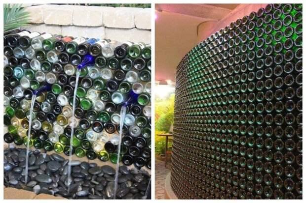Стены даже с водопадами Фабрика идей, бутылки, вторичное потребление, красота, креатив