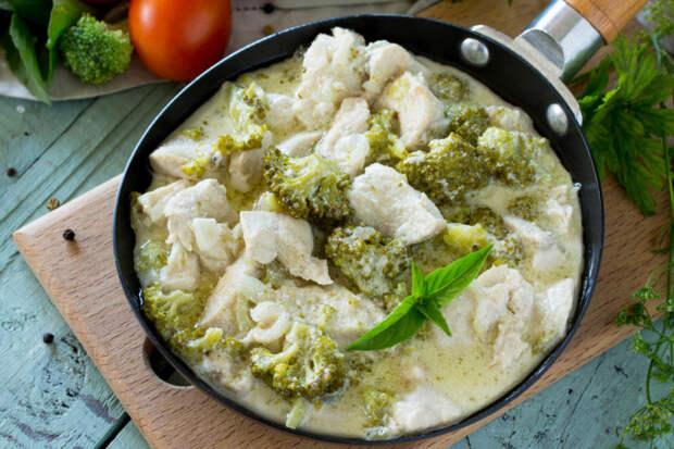 Курица с брокколи в сметане
