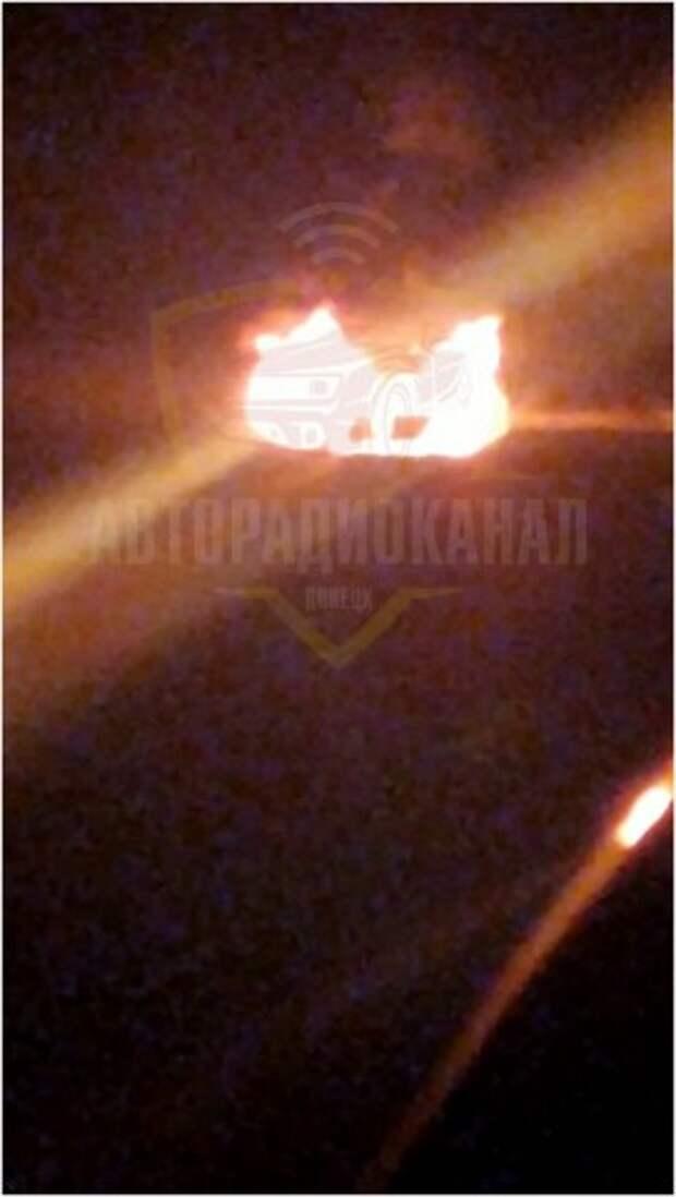 В районе «Успенки» загорелся автомобиль