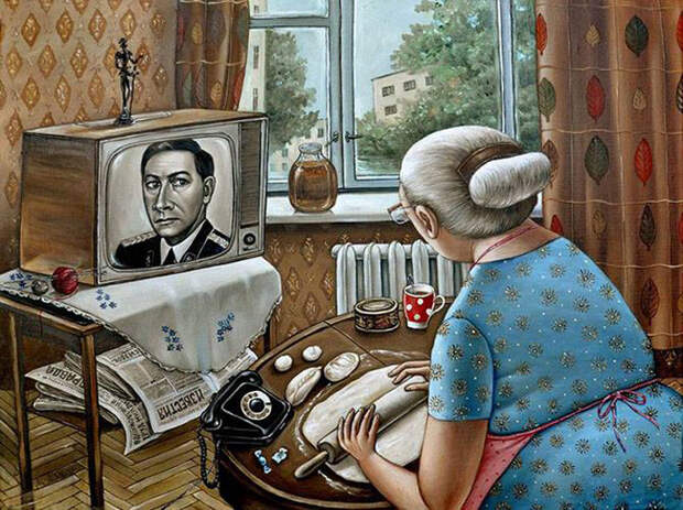 20 ироничных картин о жизни в СССР от художницы из Донецка