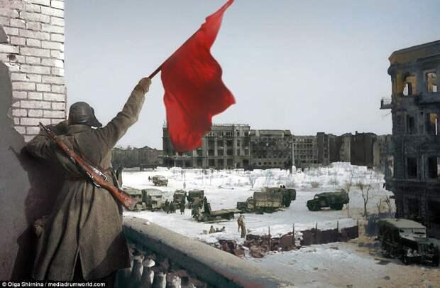 Ожившие лица войны: фотографии битвы заСталинград вцвете