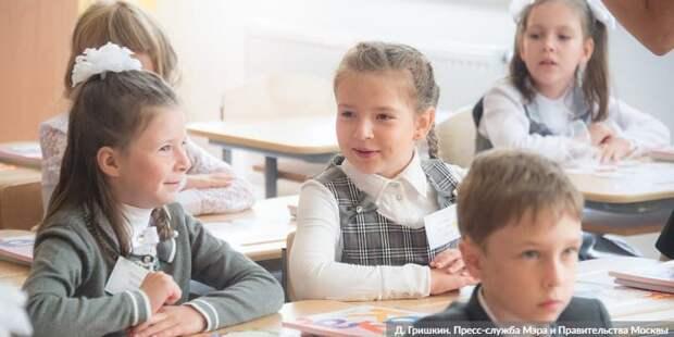 Собянин: Около 100 школ и детсадов будет построено в Москве за три года. Фото: Д. Гришкин mos.ru