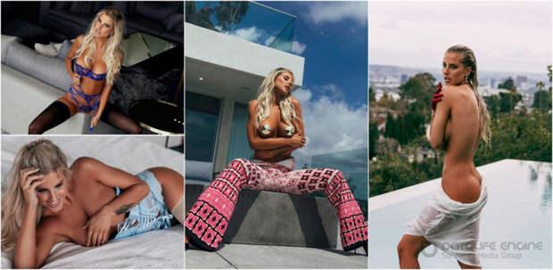 26-летняя американская актриса и модель Бренна Блэк (Brennah Black) в журнале QP Fashion