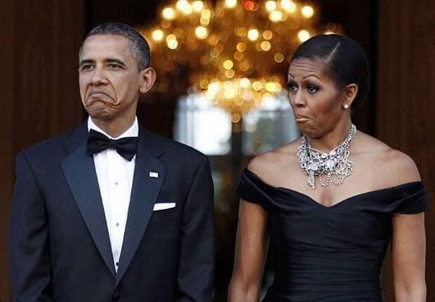 """Барак Обама спрашивает своего секретаря: - А что делает этот пожилой джентльмен на лавочке у Б... """" Смешные Анекдоты Истории Цит"""