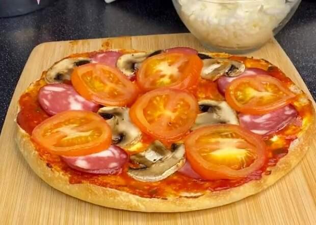 Без замешивания теста: готовлю пиццу из хлеба (просто и надежно)