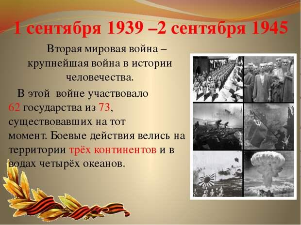День окончания Второй мировой войны — 2 сентября 2020 года
