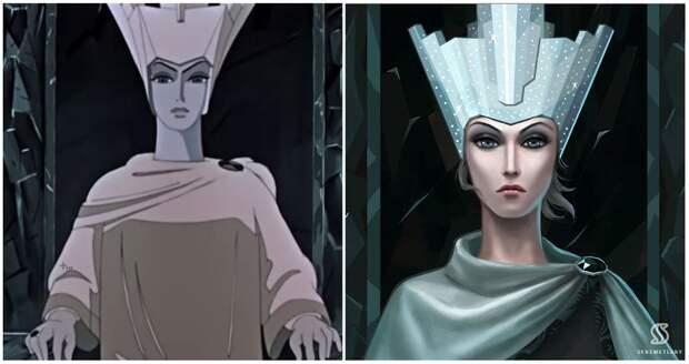 Художница нарисовала принцесс из советских мультиков в стиле Disney