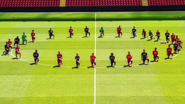 Игроки «Ливерпуля» впамять оДжордже Флойде встали наодно колено на«Энфилде». Это уже перебор
