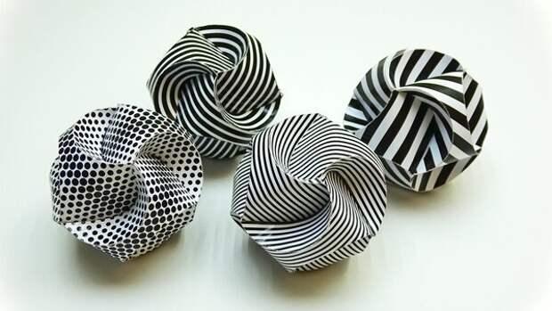 Шаблон ёлочных шаров из бумаги DIY