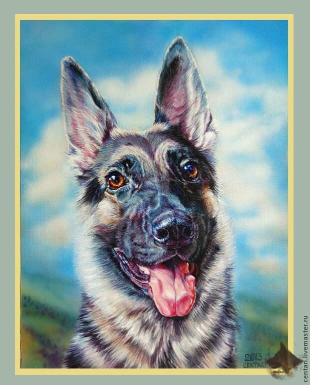 Рисуем весёлую собаку акрилом