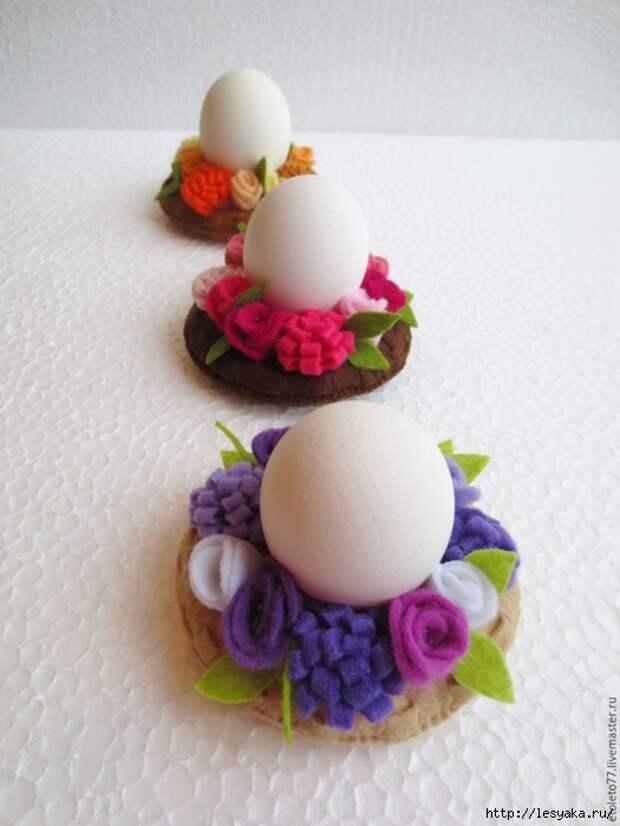 Декоративные подставки для пасхальных яиц своими руками!
