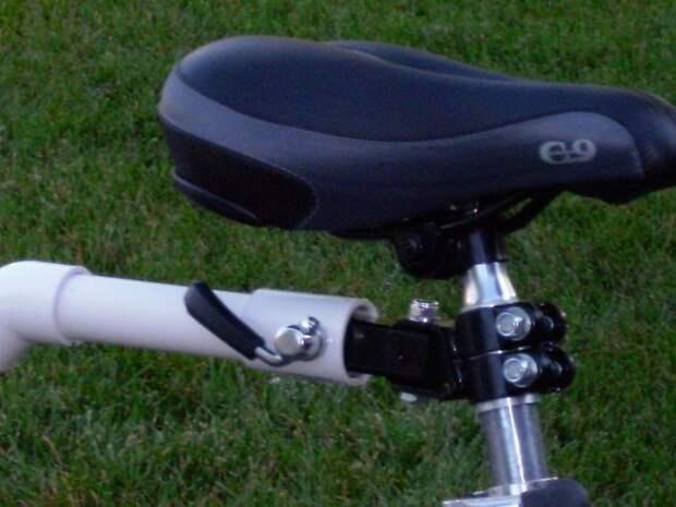 Велоприцеп из ПВХ труб велоприцеп, пвх, самоделка, своими руками, трубы
