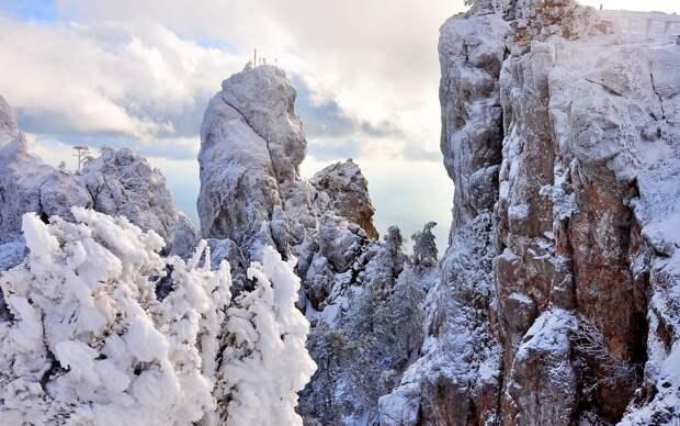 Доступ на Ай-Петри и другие горы закрыли из-за лавин