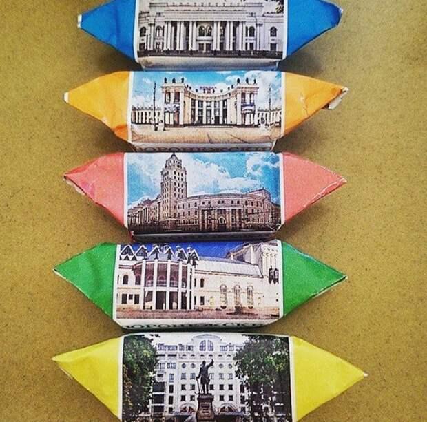 Конфеты с фотографиями города Воронеж
