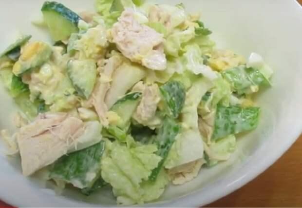 Вкуснейший салатик из пекинской капусты