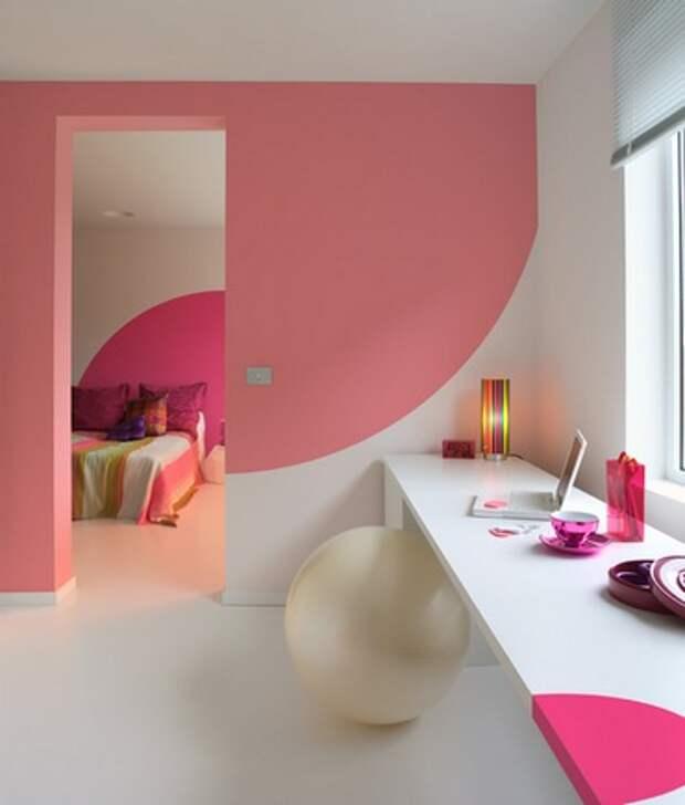 комбинированная покраска стен в два цвета: дизайн оригинальный