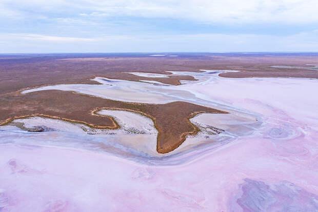 розовое озеро Меклетинский заказник