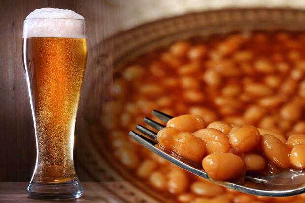 фасоль с пивом