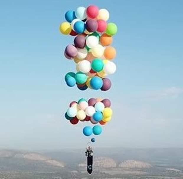 Полет на воздушных шариках (видео)