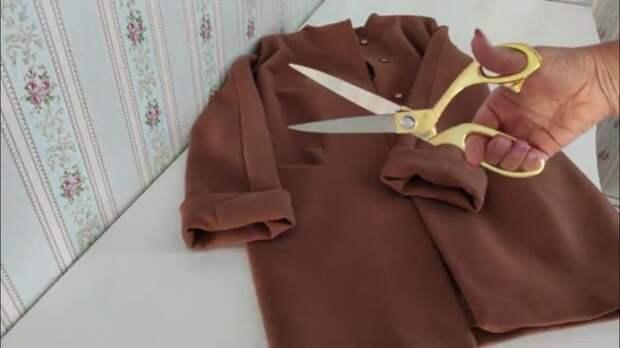 Очень необычная, полезная и красивая переделка старого пальто