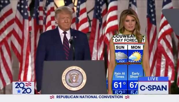 Мелания Трамп вышла в платье цвета хромакей, чем обрадовала социальные сети. Фото и Видео