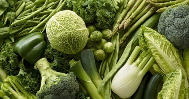 Зелень укрепляет мышцы