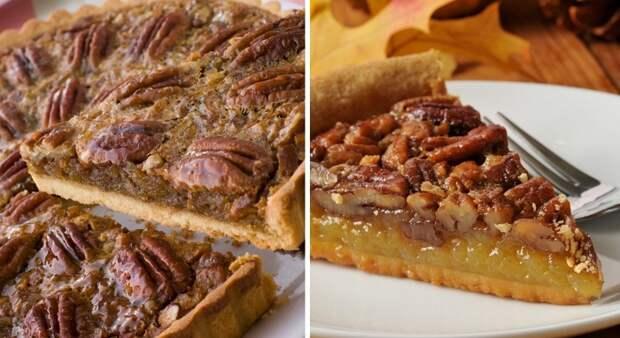 пирог с орехами и курагой