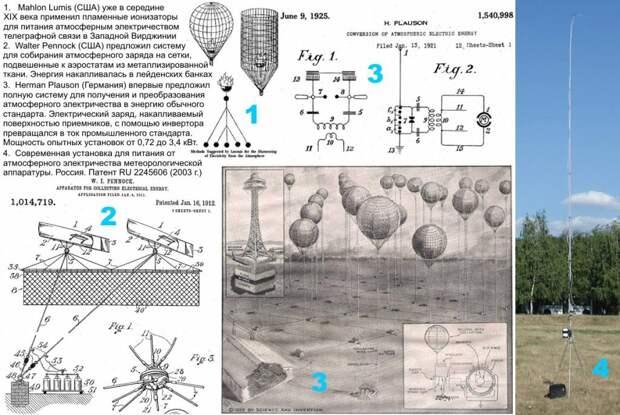 Рис 4. Работы по получению атмосферного электричества.