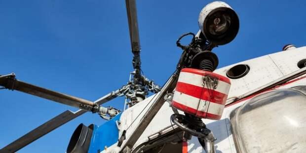 Вертолеты МАЦ начнут мониторинг пожароопасной обстановки в Москве с 1 мая. Фото: М. Денисов mos.ru