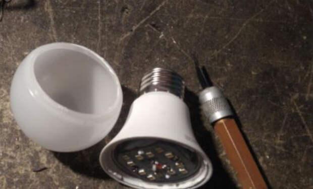 Ремонт перегоревшей светодиодной лампы: светит заново за 5 движений