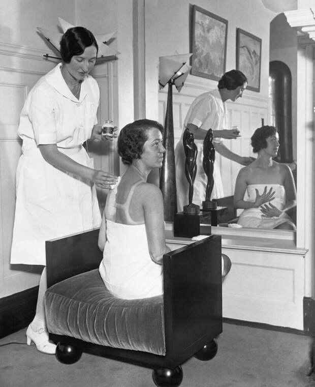 Красота— очень страшная сила: как выглядел салон Элены Рубинштейн в1936 году